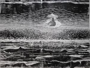 Lino, houtskool op katoen. 2015. 140x120 cm.